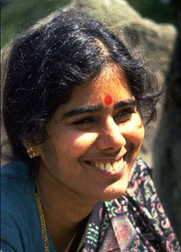 Mother Meera smiling